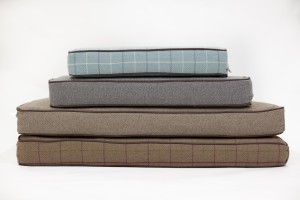 Stack of Ivy and Duke mattresses for luxury wooden dog bed Parkman George