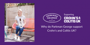 Parkman George luxury wooden dog beds corporate responsibility is to support Crohn's and Colitis UK